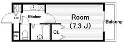 コスミック[3階]の間取り
