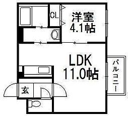 Sparkle Toyohira[401号室]の間取り