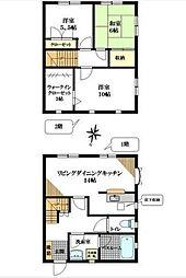 [テラスハウス] 神奈川県横浜市金沢区長浜1丁目 の賃貸【/】の間取り