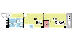 こもれび荘[4F号室]の間取り