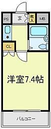 TAMAハイツ[2階]の間取り
