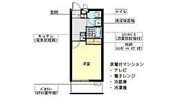 レオパレスMARUTOKU(家電あり) 2階1Kの間取り