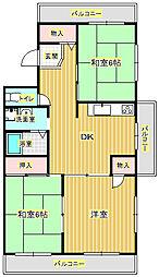 マンション雅II[2階]の間取り