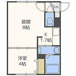 Bフラット創成川公園[5階]の間取り