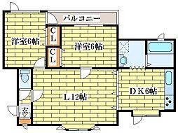 ピュアコートヒルII[1階]の間取り
