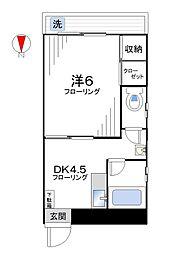 小野寺マンション[406号室]の間取り