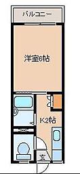 宮崎県宮崎市天満3丁目の賃貸アパートの間取り