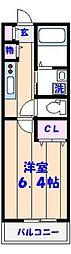 moderno宮本[1階]の間取り