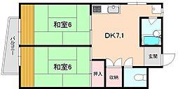 増田マンション[301号室]の間取り