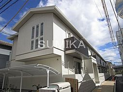 岡山県岡山市北区島田本町1の賃貸アパートの外観