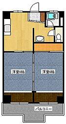 藤ビル[403号室]の間取り