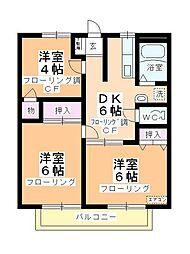 メゾン岸田B[103号室]の間取り