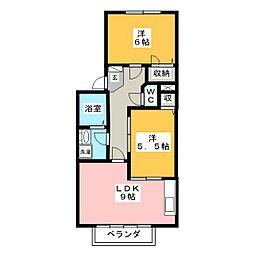 サンシャイン C[2階]の間取り