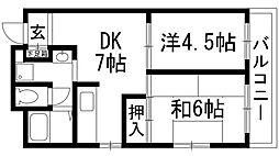 朝山レジデンス[2階]の間取り