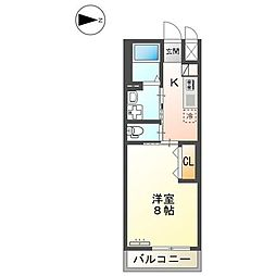 JR山陽本線 東福山駅 徒歩20分の賃貸アパート 1階1Kの間取り