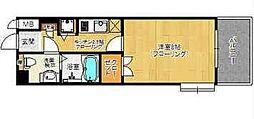 ピュアドーム六本松ローゼ[5階]の間取り