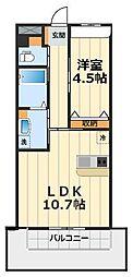神奈川県大和市桜森3丁目の賃貸マンションの間取り