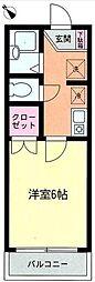 ヴェルセジュール[3階]の間取り