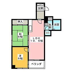 フラット松栄[2階]の間取り