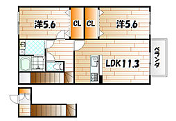 エスポワールISHIBASHI[2階]の間取り