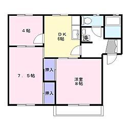 エクセルハイツ 203号室[2階]の間取り
