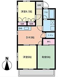 YFシティーアパート[102号室]の間取り