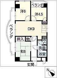 コスモアーバン[4階]の間取り