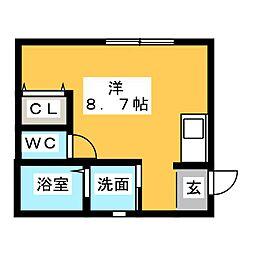 LeGioie(レ・ジョイエ)岩倉駅[1階]の間取り