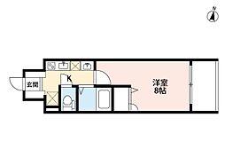 ドルチェヴィータ北梅田[2階]の間取り