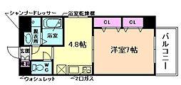 アスヴェル梅田WEST[7階]の間取り