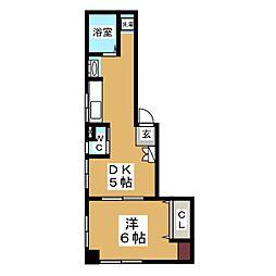 モンテハイツ[2階]の間取り