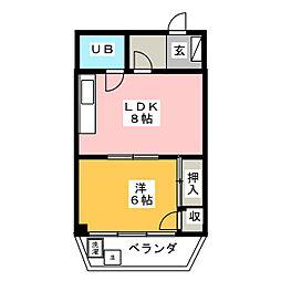 川口ビル[3階]の間取り