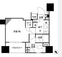 パークリュクス銀座mono[13階]の間取り