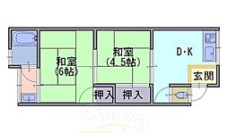 竹王荘[2階]の間取り