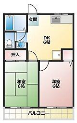 ファミリーコーポヤシマ[2階]の間取り