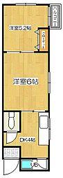 堺ハイツ[2階]の間取り