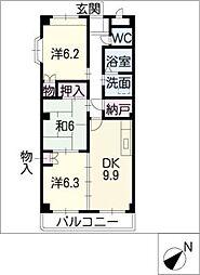 ミレア21[1階]の間取り