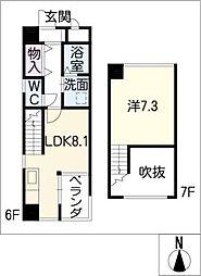 ワイズ東別院[7階]の間取り