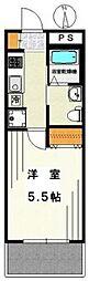 東京都世田谷区池尻3丁目の賃貸マンションの間取り