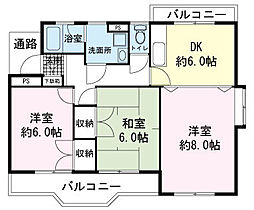 CROWN弐番館[2階]の間取り