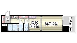 プレサンス新神戸[6階]の間取り