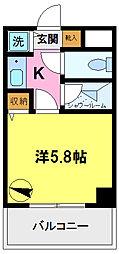 ライオンズマンション千葉県庁前[4階]の間取り