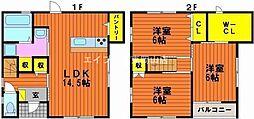 [一戸建] 岡山県岡山市中区浜3丁目 の賃貸【/】の間取り