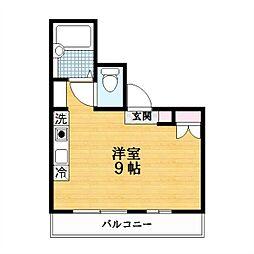 マンションヤマムラ[2階]の間取り