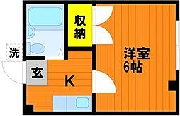 シスター富田町マンション[5階]の間取り