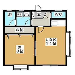 イーストハウス[2階]の間取り