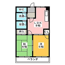 シェヌー極楽[1階]の間取り