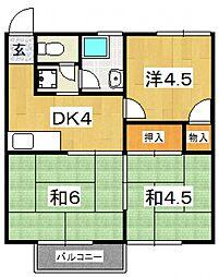 木村ハイツ(北ノ窪)[205号室号室]の間取り