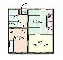 神奈川県厚木市旭町4丁目の賃貸アパートの間取り
