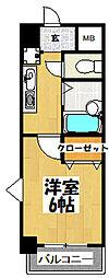 大阪府大阪市城東区放出西3丁目の賃貸マンションの間取り